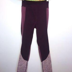 SO purple cropped leggings